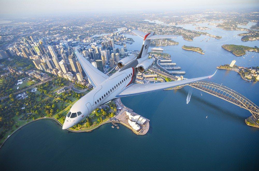 Dassault Aviation lança o Falcon 10X apresentando a maior cabine da indústria e a tecnologia mais avançada em um jato executivo