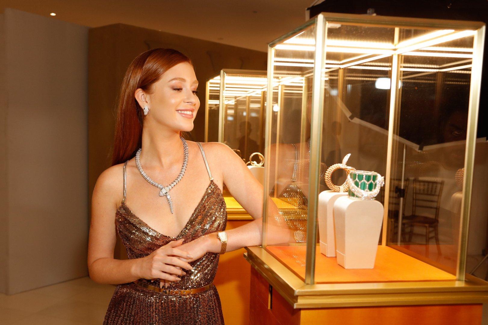 Marina Ruy Barbosa brilha em lançamento internacional da coleção Serpenti Seduttori da Bvlgari
