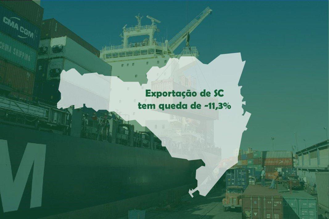 Exportação de SC tem queda de -11,3% até maio