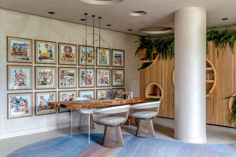 Anna Maya fez um resgate das suas referências em arquitetura, arte e história para criar a Sala Íntima da Arquiteta