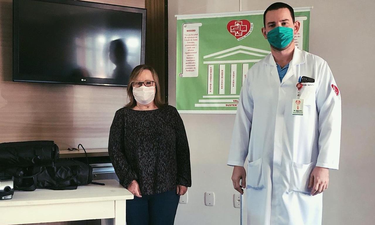 """Grupo Gemballa/Riomed faz doação à campanha da prefeitura de Rio do Sul: """"Respirar para Viver"""""""